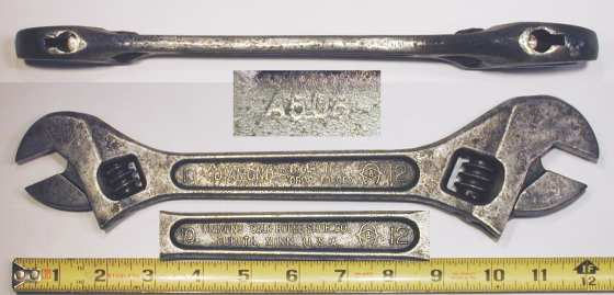 [Diamond Tool Steel 10-12 Inch Double-Ended Adjustable Wrench]