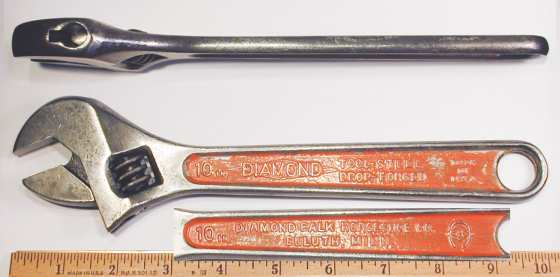 [Diamond Tool Steel 10 Inch Adjustable Wrench]